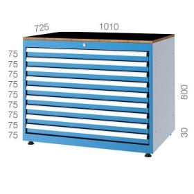 1010x725 9 Çekmeceli Takım Dolabı KCD011081
