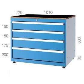 1010x725  4 Çekmeceli Takım Dolabı KCD011082