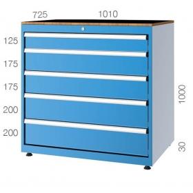 1010x725 5 Çekmeceli Takım Dolabı KCD011102
