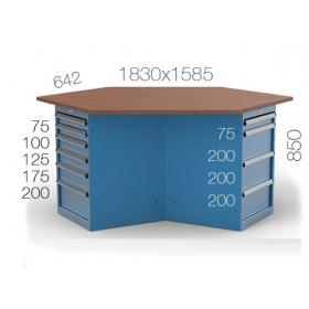 Çokgen Çalışma Masası KCM03800