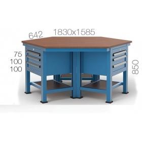 Çokgen Çalışma Masası KCM03805