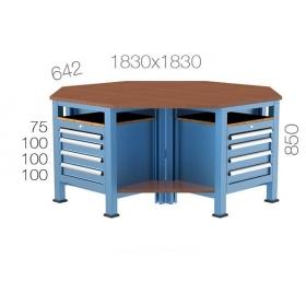 Çokgen Çalışma Masası KCM03815