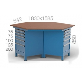 Çokgen Çalışma Masası KCM03840