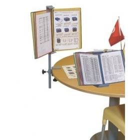 10' lu Masa Tipi Ayaklı A4 Evrak Kılıfı-Şömizi